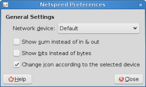 Screenshot-Netspeed Preferences